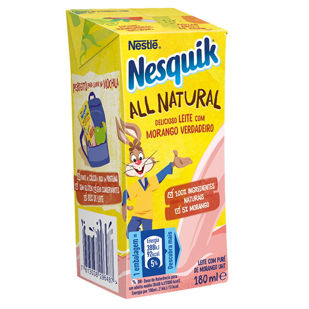NESQUIK ALL NATURAL Leite com Morango
