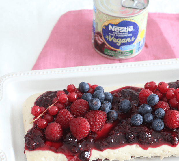 Cheesecake Frutos Vermelhos Vegan